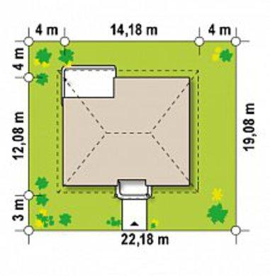 Одноэтажный классический дом по версии 4M512 без гаража