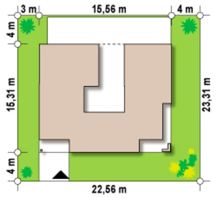 Современный дом с внутренним удобным двориком