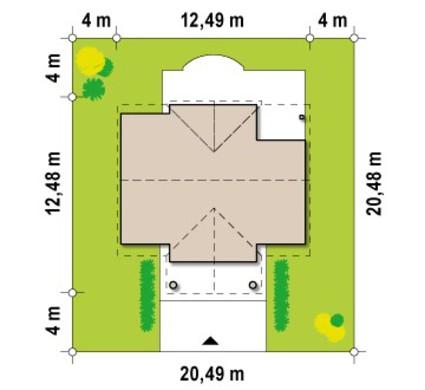 Проект дома с дополнительной спальней на первом этаже