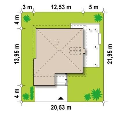 Проект двухэтажного коттеджа со вторым светом