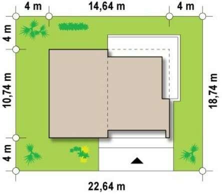 Проект современного коттеджа с застекленной гостиной