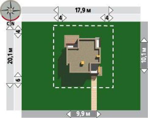 Современный коттедж на два этажа, площадью 110 м2