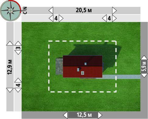 Дом для узкого участка 12 на 6