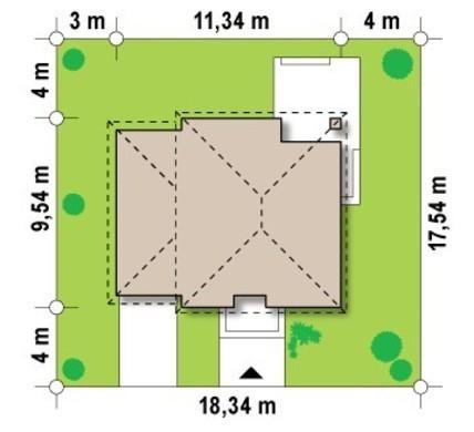 Проект двухэтажного современного дома с тремя спальнями и гаражом