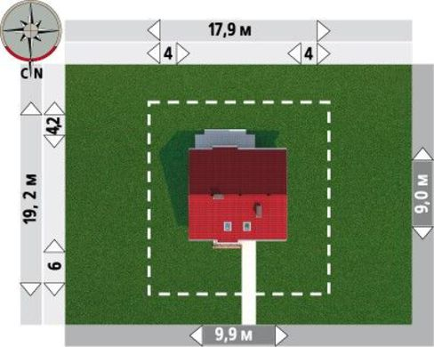 Проект мансардного коттеджа 140 m²