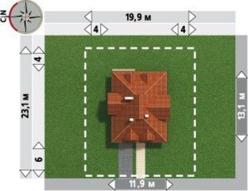 Примечательный проект дома более 200 m²
