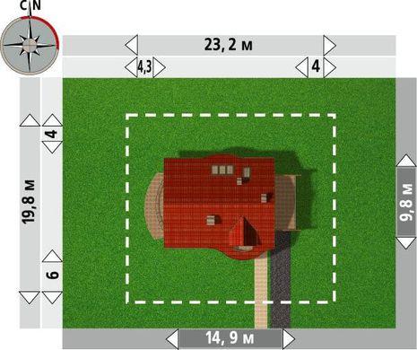Проект строительства уютного мансардного дома 170 m²