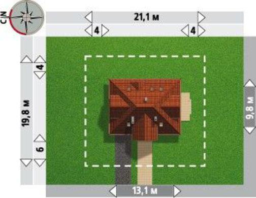 Проект индивидуального особняка с деревянными деталями