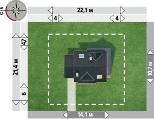 Интересный загородный коттедж с современным дизайном