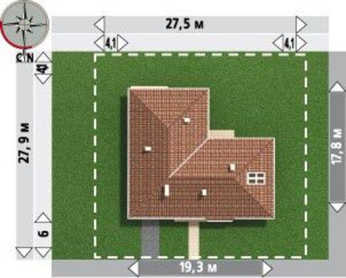 Стильная загородная усадьба с дополнительным выходом
