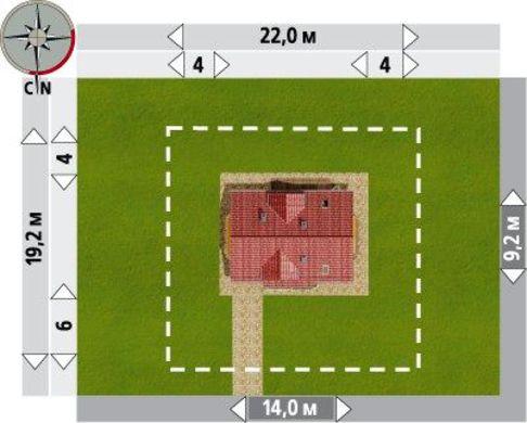 Стильная загородная усадьба с крыльцом и просторным выходом на террасу