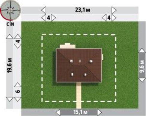 Симпатичный проект 1 этажного домика с эркером