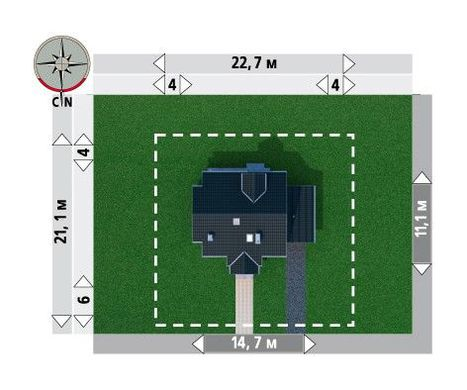 Проект мансардного коттеджа более 150 m²