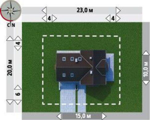 Проект строительства уютного мансардного дома с многоскатной крышей